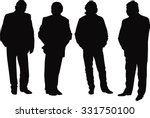 silhouettes of people . set of... | Shutterstock .eps vector #331750100