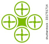 air drone vector icon. style is ... | Shutterstock .eps vector #331751714