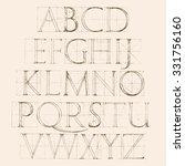 modern roman classic alphabet... | Shutterstock .eps vector #331756160