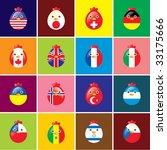 chicken flags card