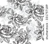 seamless pattern rose   vector... | Shutterstock .eps vector #331757189