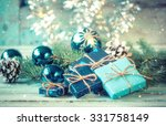 christmas decoration on... | Shutterstock . vector #331758149