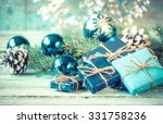 christmas decoration on... | Shutterstock . vector #331758236
