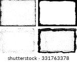 grunge frame texture set  ... | Shutterstock .eps vector #331763378