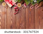 christmas gift box  food decor... | Shutterstock . vector #331767524