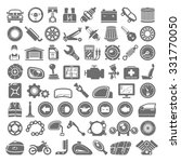 black icons   car and... | Shutterstock .eps vector #331770050