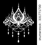 vector black and white henna... | Shutterstock .eps vector #331771730