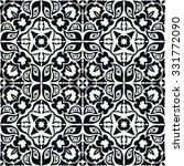 black and white seamless... | Shutterstock .eps vector #331772090