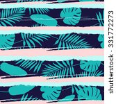 tropical floral pattern .... | Shutterstock .eps vector #331772273