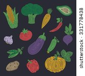 vegetable set. spiral harvest... | Shutterstock .eps vector #331778438