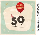 vintage style funny 50th... | Shutterstock .eps vector #331783400