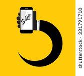 flat selfie icon illustration  | Shutterstock . vector #331791710