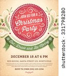 christmas party invitation with ... | Shutterstock .eps vector #331798280