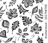 seamless pattern of vintage... | Shutterstock . vector #331798700