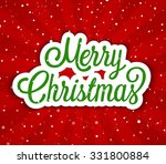 merry christmas greeting card.... | Shutterstock .eps vector #331800884
