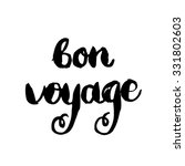bon voyage. conceptual... | Shutterstock .eps vector #331802603