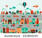map city illustration ... | Shutterstock .eps vector #331803254