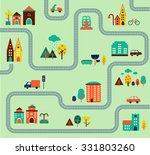 map city illustration ... | Shutterstock .eps vector #331803260