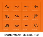 sound cycles waveform icons on...
