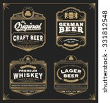 vintage frame design for labels ... | Shutterstock .eps vector #331812548