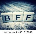 bff for best friends forever... | Shutterstock . vector #331815248