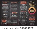 vector restaurant brochure ... | Shutterstock .eps vector #331815929