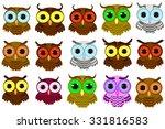 owl isolated on white... | Shutterstock .eps vector #331816583
