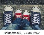 children's legs and feet in... | Shutterstock . vector #331817960