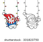 coloring book or page ... | Shutterstock .eps vector #331823750