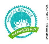 medical benefits membership... | Shutterstock .eps vector #331824926