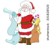 santa claus with gifts. new... | Shutterstock .eps vector #331828520