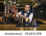 expert barman is making... | Shutterstock . vector #331831298