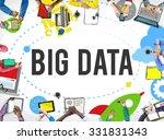big data database storage...   Shutterstock . vector #331831343