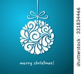 vector christmas decoration of... | Shutterstock . vector #331834466