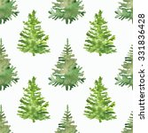 seamless pattern with christmas ... | Shutterstock . vector #331836428