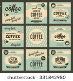 retro vintage coffee background ... | Shutterstock .eps vector #331842980