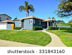 california dream houses and... | Shutterstock . vector #331843160