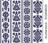 vector tribal mexican vintage... | Shutterstock .eps vector #331848020