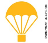 parachute vector icon. style is ... | Shutterstock .eps vector #331848788