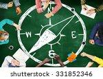 Stock photo compass longitude latitude navigation direction adventure concept 331852346