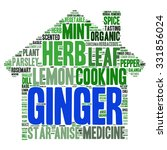 herb tag word cloud background | Shutterstock .eps vector #331856024