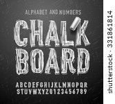 chalk alphabet letters and... | Shutterstock .eps vector #331861814