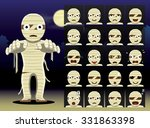 mummy cartoon emotion faces... | Shutterstock .eps vector #331863398