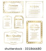 decorative gold frame set... | Shutterstock .eps vector #331866680