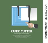 working with paper cutter paper ... | Shutterstock .eps vector #331867964
