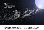 christmas eve santa claus... | Shutterstock .eps vector #331868624