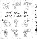 kindergarten children pencil... | Shutterstock .eps vector #331873466