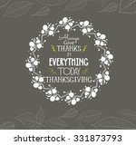 happy thanksgiving floral... | Shutterstock .eps vector #331873793