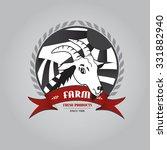 farm label  badge | Shutterstock .eps vector #331882940