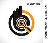 creative hand with searching... | Shutterstock .eps vector #331883429